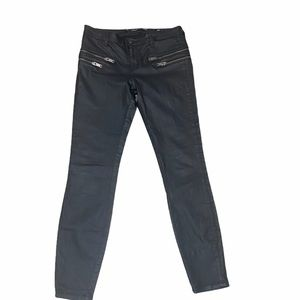 Zara Faux Leather Slim Fit Moto Style Pant